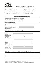 Inschrijfformulier PDF - Kinderopvang Liemeer