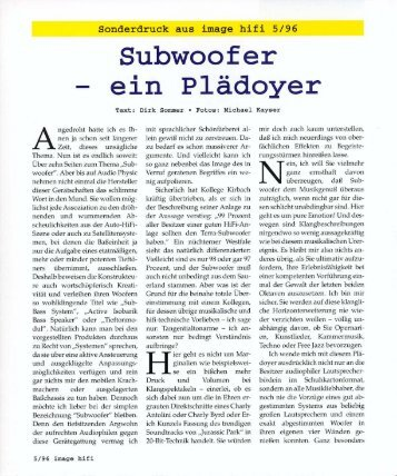 image hifi Terra german review «Subwoofer – ein ... - Audio Physic