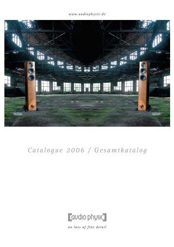AUDIO PHYSIC :: Catalogue 2006