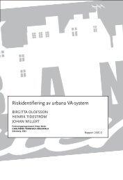 Riskidentifiering av urbana VA-system - Urban Water