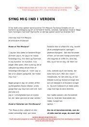 SYNG MIG IND I VERDEN - Center for Kultur og Udvikling