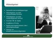 DE-L HR-dag oplæg om afskedigelse - Danske Erhvervsskoler