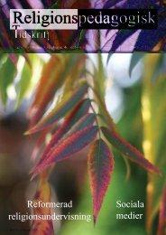 Nr 23 Hösten 2011 - Religionspedagogiskt idéforum