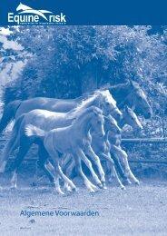Algemene Voorwaarden - Equine Risk
