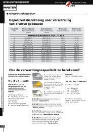 Capaciteitsberekening voor verwarming van diverse gebouwen Hoe ...