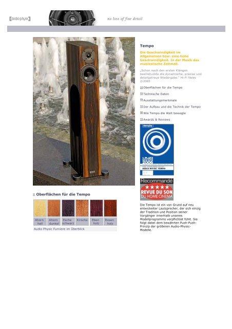 Tempo 5 web german/english - Audio Physic