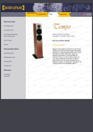Tempo 3 web german - Audio Physic
