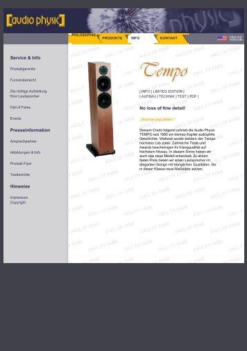 Tempo 3 web german - Audio Physic