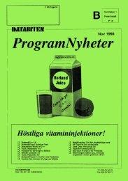 ProgramNyheter november 1993 - Databiten
