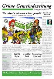 STANDPUNKTE - Ausgabe 01 /2010(pdf, 3,6 MB) - Die Grünen Tirol