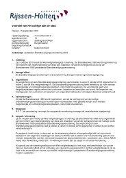 voorstel van het college aan de raad - Gemeente Rijssen-Holten