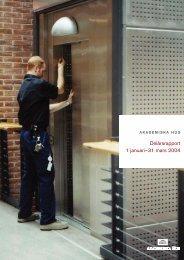 Delårsrapport 1 januari–31 mars 2004 - Akademiska Hus