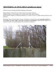 Monteringsvejledning & prisliste - J. M. Farmsalg - JM-hegn