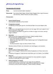 Protokoll från styrelsemöte Juni 2013