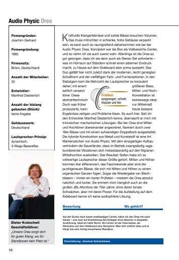 Testbericht Deutsch PDF 236 KB - Audio Physic