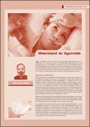 read this article - AyurvedaActueel.com