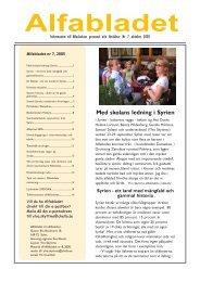 Reseberättelse från september 2005 - Svensk-Syriska Medicinska ...