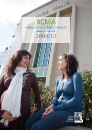 A New Face on Mental Health - British Columbia Medical Association