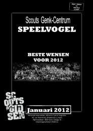 speelvogel januari 2012 - Scouts Genk Centrum