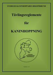 Tävlingsreglemente - Sveriges Kaninhoppares Riksförbund