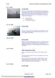 Forår Kerteminde Sejlklub Tirsdagssejladser 2006 Dokument 1 af 2 ...
