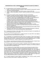 disposizioni sull'uso e l'assegnazione dei telefoni cellulari del ...