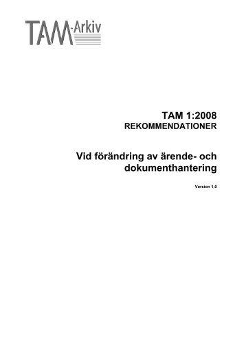 och dokumenthantering - TAM-Arkiv