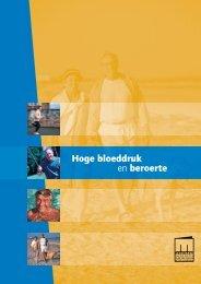 Folder Hoge Bloeddruk en Beroerte. - Nederlandse CVA-vereniging