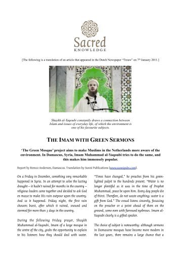 imam with green sermons - Sacred Knowledge!