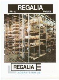 Bruks o Montage Anvisning REGALIA PR90 - KJK Lagerprodukter AB