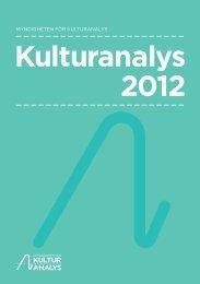 Kulturanalys 2012