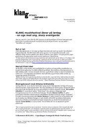 Pressemeddelelse maj 2013 (94,6 kb, pdf) - Klang Copenhagen ...