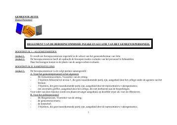 Word Pro - Reglement van de beroepscommissie.lwp - Jette