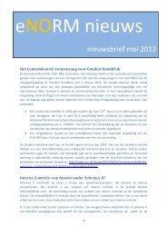 eNORM Nieuws mei 2012 - Norm-advies