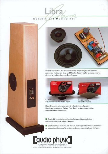Libra flyer german - Audio Physic