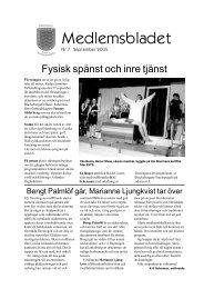 Medlemsblad nummer 7 - Föreningen Gamla Blackebergare