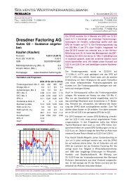 Gutes Q3 - Dresdner Factoring AG