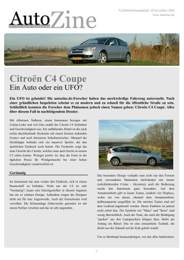 Autozine - Citroën C4 Coupe