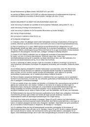 Europa-Parlamentets og Rådets direktiv 2003/20/EF ... - Handboka.no