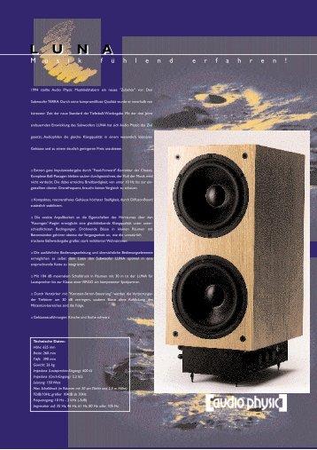 LUNA - Audio Physic