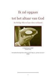 Ik zal opgaan tot het altaar van God - Vereniging voor Latijnse Liturgie