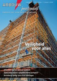Download Arbouw Journaal maart 2009 - Bouwbladen