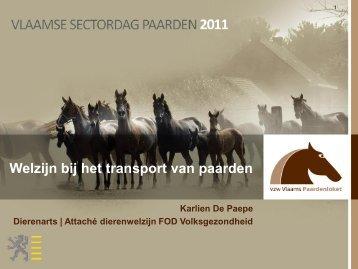 Welzijn bij het transport van paarden - Vlaams Paardenloket