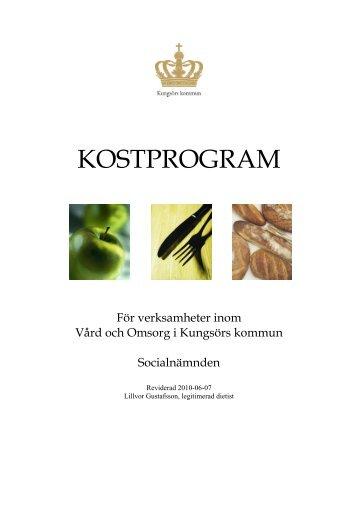 Länk till Kostprogram (pdf 329 kB, nytt fönster) - Kungsörs kommun