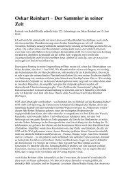Rede zum 125. Geburtstag von Oskar Reinhart - Winterthur Glossar