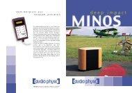 Minos flyer german/english - Audio Physic