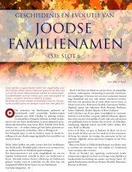 Geschiedenis en Evolutie Joodse Namen door M. Apsel - De Centrale