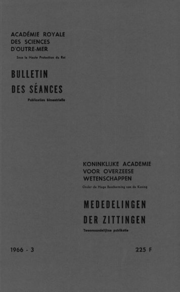 (1966) n°3 - Royal Academy for Overseas Sciences