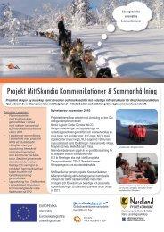 Projekt MittSkandia Kommunikationer & Sammanhållning