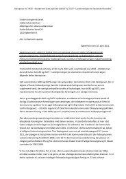 Vedr. høringssvar om udkast til forslag til lov - Amatørernes Kunst og ...